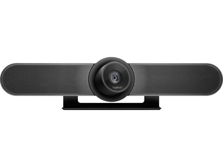 Logitech MeetUp 4K-webcam 3840 x 2160 pix Standvoet, Klemhouder