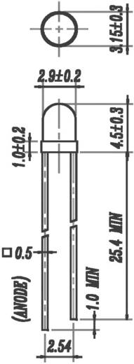 Everlight Opto 264-10UYD/S530-A3/T2 LED bedraad Geel Rond 3 mm 8 mcd 60 ° 2 mA 1.7 V 1 stuks