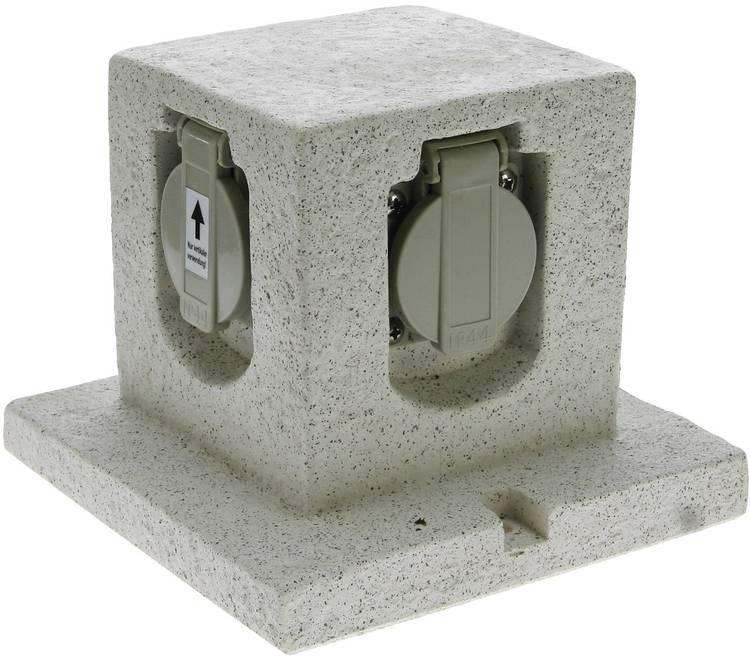 Heitronic 36315 Tuinstekkerdoos Graniet-grijs (mat)