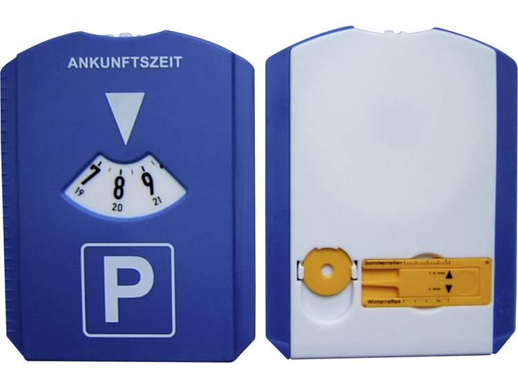 Parkeerschijf HP Autozubehör 19944 15 mm x 11 cm Met wisserlip , Met profielmeter, Met muntvak, Met ijskrabber, Met twee winkelwagenmuntjes