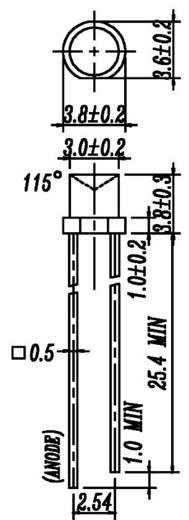 Everlight Opto 484SYGT-S530-E2 LED bedraad Groen Cilindrisch 3 mm 10 mcd 150 ° 20 mA 2 V 1 stuks