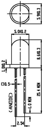Everlight Opto 333-2SDRD/S530-A3 LED bedraad Rood Rond 5 mm 160 mcd 30 ° 20 mA 2 V 1 stuks