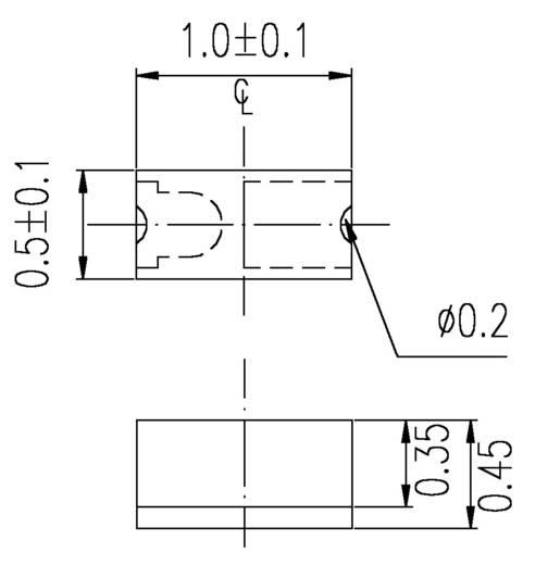 Everlight Opto 16-213SURC/S530-A2/TR8 SMD-LED 0402 Rood 36 mcd 120 ° 25 mA 2 V
