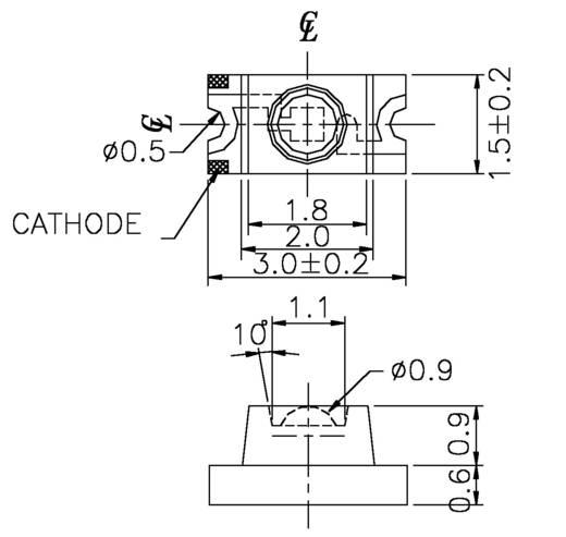 Everlight Opto 11-21SURC/S530-A2/TR8 SMD-LED 1206 Rood 71 mcd 60 ° 20 mA 2 V