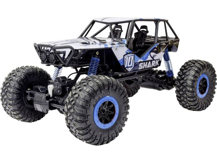 Reely Rock Crawler 1:10 Brushed RC auto Elektro Crawler 4WD 100% RTR 2,4 GHz Incl. accu, oplader en