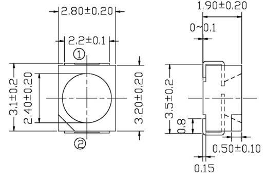 Everlight Opto PT 67-21B/L41/TR8 Fototransistor PLCC2 1200 nm
