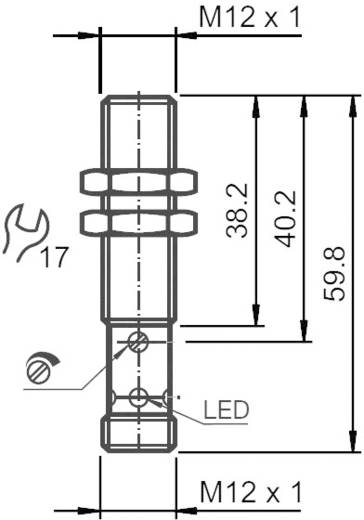 Pepperl & Fuchs CBB4-12GH60-E2-V1 Capacitieve naderingsschakelaar M12 Vlak PNP
