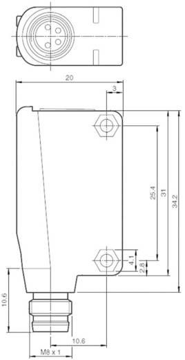 Pepperl & Fuchs ML100-8-H-350-RT/95/103 Reflectie-lichtknop Lichtschakelend, Donkerschakelend, Achtergrondfiltering 10 - 30 V/DC 1 stuks