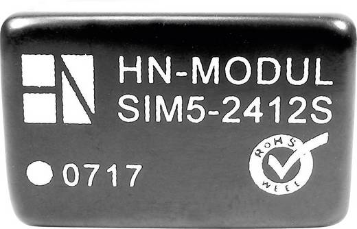 HN Power SIM5-0512S DC/DC-converter, print 5 V/DC 12 V/DC 250 mA 3 W Aantal uitgangen: 1 x