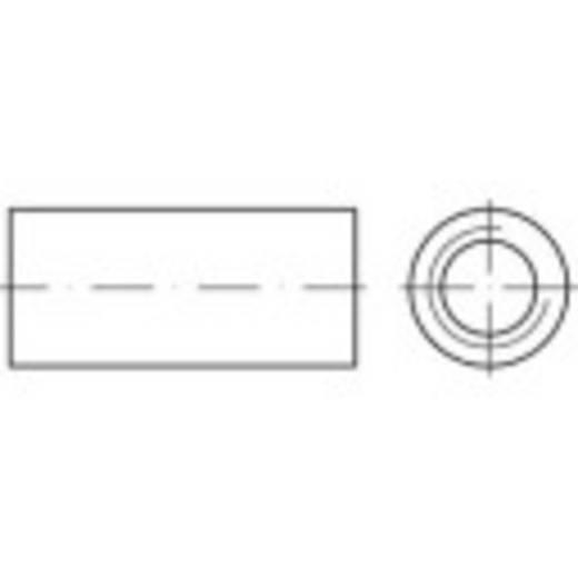 TOOLCRAFT 157692 Verbindingsmof M10 30 mm Staal galvanisch verzinkt 100 stuks