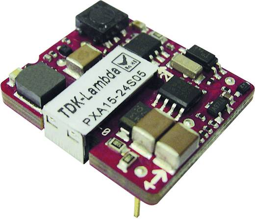 TDK-Lambda PXA15-24WS05 DC/DC-converter, print 24 V/DC 5 V/DC 3 A 15 W Aantal uitgangen: 1 x