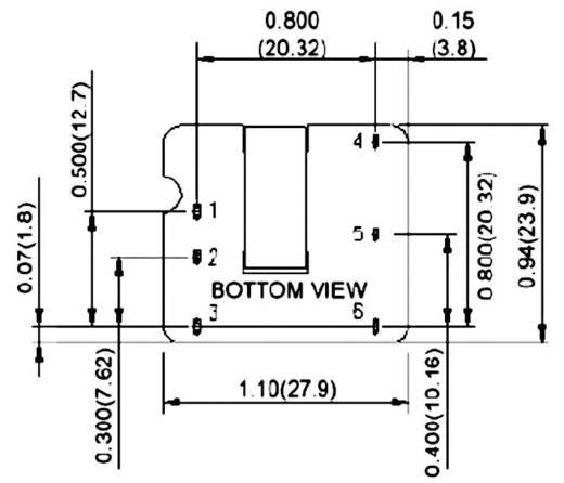 TDK-Lambda PXA15-48WS12 DC/DC-converter, print 48 V/DC 12 V/DC 1.25 A 15 W Aantal uitgangen: 1 x