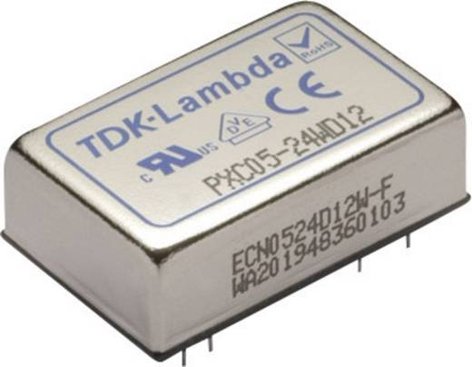 TDK-Lambda PXC05-48WD05 DC/DC-converter, print 48 V/DC 5 V/DC, -5 V/DC 500 mA 5 W Aantal uitgangen: 2 x