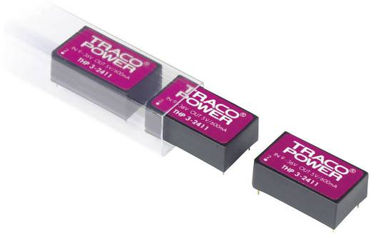 TracoPower THP 3-2423 DC/DC-converter, print 24 V/DC 15 V/DC, -15 V/DC 100 mA 3 W Aantal uitgangen: 2 x