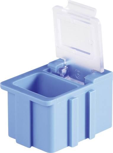 SMD-box Blauw Kleur deksel: Transparant 1 stuks (l x b x h) 16 x 12 x 15 mm Licefa N12381