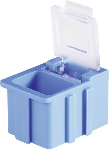 SMD-box Rood Kleur deksel: Transparant 1 stuks (l x b x h) 16 x 12 x 15 mm Licefa N12361