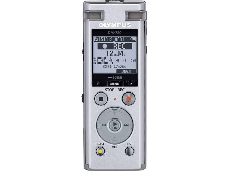 Digitaal dicteerapparaat Olympus DM-720 Opnameduur (max.) 985 h Zilver