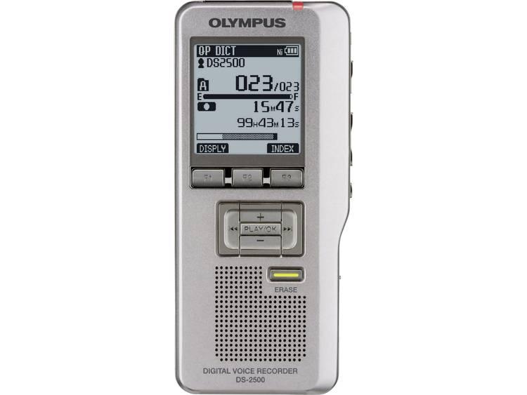 Digitaal dicteerapparaat Olympus DS-2500 Opnameduur (max.) 303 h Zilver incl. tas, incl. 2 GB SD-kaart