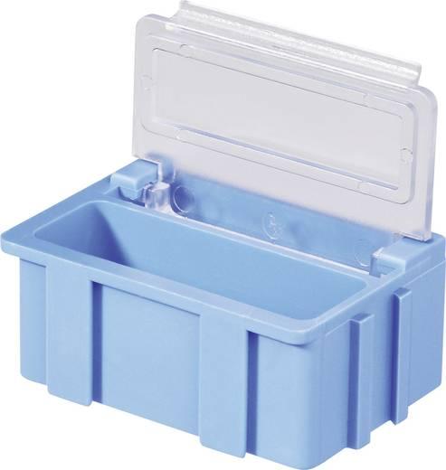 SMD-box Blauw Kleur deksel: Transparant 1 stuks (l x b x h) 37 x 12 x 15 mm Licefa N22381