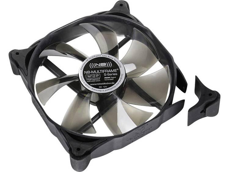 PC ventilator NoiseBlocker Multiframe M12-P Zwart, Grijs (transparant) (b x h x d) 120 x 120 x 25 mm