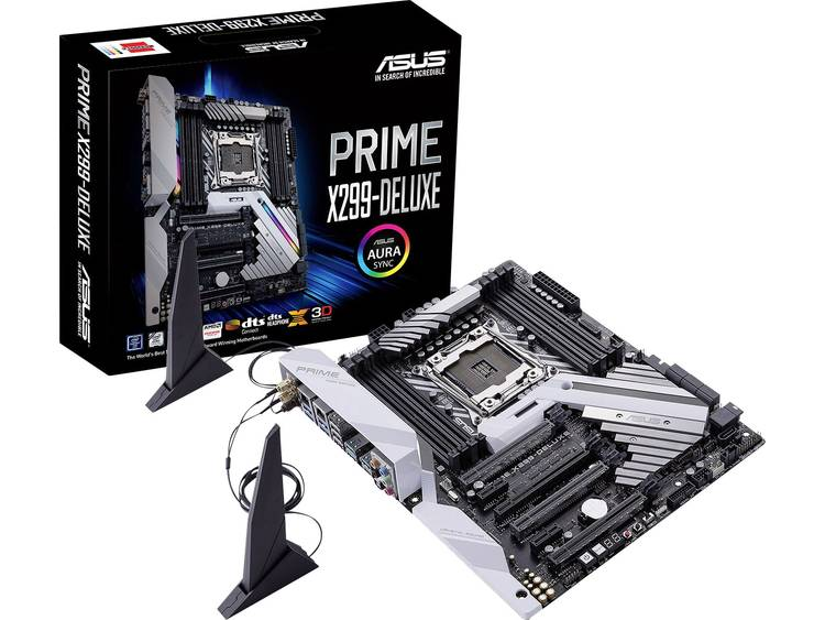 Asus Prime X299-Deluxe Moederbord Socket Intel® 2066 Vormfactor ATX Moederbord chipset Intel® X299
