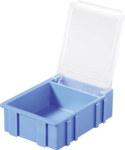 SMD-box Blauw Kleur deksel: Transparant 1 stuks (l x b x h) 41 x 37 x 15 mm Licefa N32381