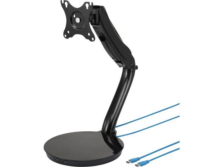 Monitor-tafelbeugel SpeaKa Professional SP-MTH-01 33,0 cm (13) - 68,6 cm (27) Kantelbaar en zwenkbaar, Roteerbaar