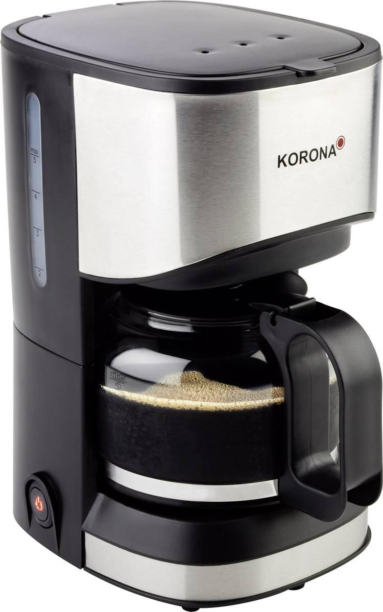 Image of Koffiezetapparaat Korona 12015 RVS, Zwart Capaciteit koppen=5 Warmhoudfunctie