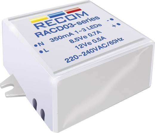 Recom Lighting RACD03-700 LED-constante-stroombron 3 W 700 mA 4.5 V/DC Voedingsspanning (max.): 264 V/AC