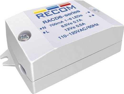 Recom Lighting RACD06-700 LED-constante-stroombron 6 W 700 mA 8.4 V/DC Voedingsspanning (max.): 264 V/AC
