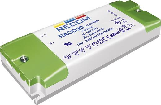 Recom Lighting LED-driver Constante stroom RACD30-700 30 W (max) 700 mA 10 - 43 V/DC