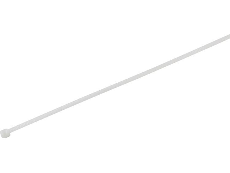 TRU COMPONENTS 1577953 Kabelbinder 200 mm Wit Hittegestabiliseerd 100 stuks