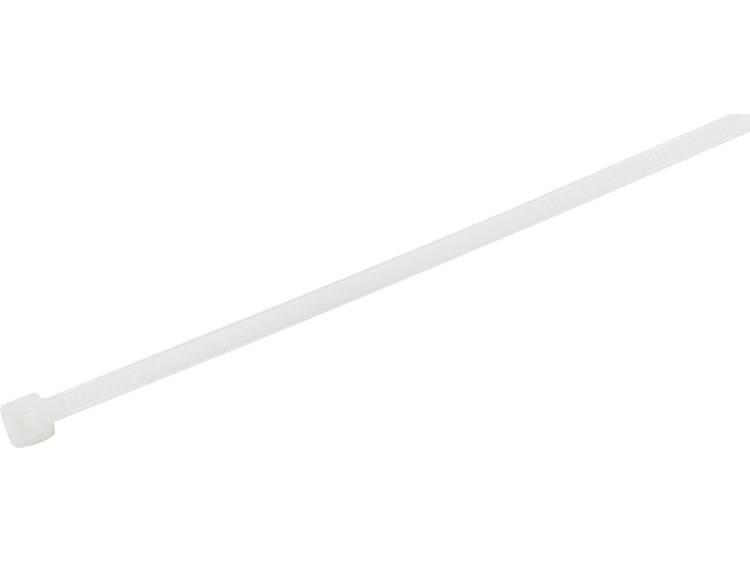 TRU COMPONENTS 1577963 Kabelbinder 150 mm Wit Hittegestabiliseerd 100 stuks