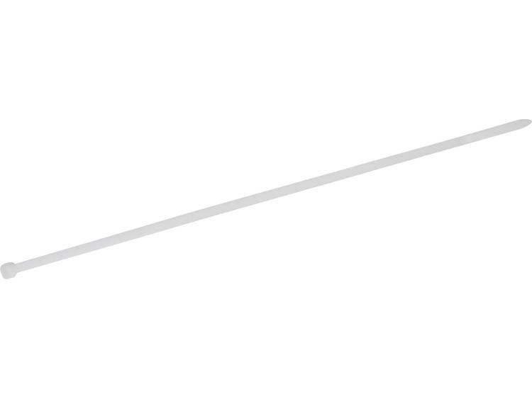 TRU COMPONENTS 1578073 Kabelbinder 650 mm Wit Hittegestabiliseerd 100 stuks
