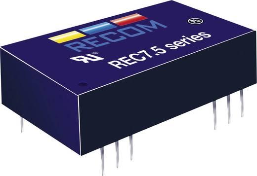 RECOM REC7.5-2412SRW/H2/A/M DC/DC-converter, print 24 V/DC 12 V/DC 625 mA 7.5 W Aantal uitgangen: 1 x