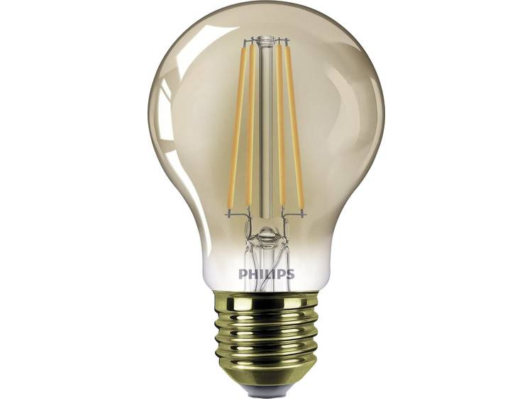 LED-lamp E27 Peer 7.5 W = 48 W Goud Energielabel: A+ Philips Lighting Dimbaar 1 stuks