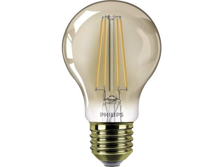 LED-lamp E27 Peer 7.5 W = 48 W Goud Energielabel: A+ Philips Lighting Dimbaar 1 stuks