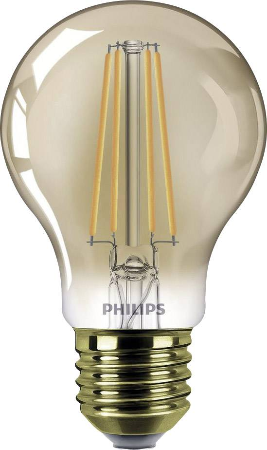 philips lighting 929001332901 led lamp e27 peer 75 w 48 w goud filament retro led dimbaar energielabel a a e
