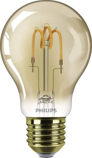 LED-lamp E27 Peer 2.3 W = 14 W Goud Filament / Retro-LED Philips Lighting 1 stuks