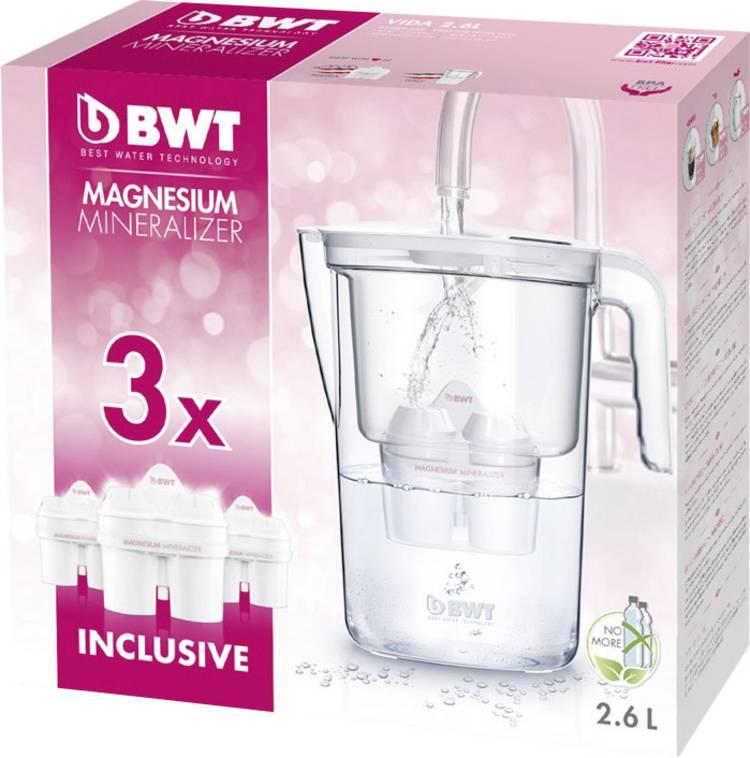 Waterfilter BWT VIDA Promo 3Mg2 0815484 2.6 l Wit