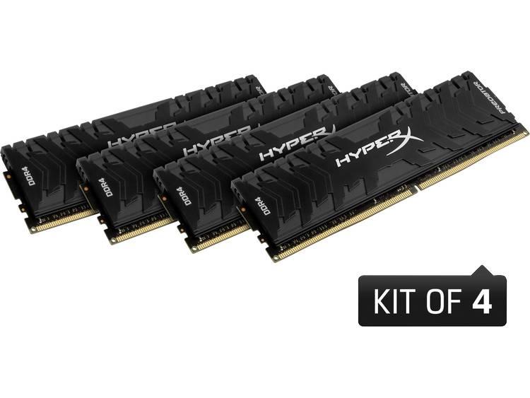 PC-werkgeheugen kit HyperX HX432C16PB3K4/32 HX432C16PB3K4/32 32 GB 4 x 8 GB DDR4-RAM 3200 MHz CL16-18-18-32