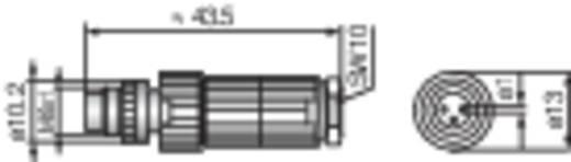 Hirschmann ELST 3008 V Aanpasbare M8-connector voor sensoren (MiniQuick) Zwart Uitvoering (algemeen) Stekker (Ø x l) 13