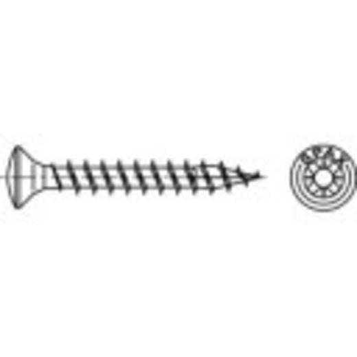 Bolkopschroeven 4 mm 40 mm Kruiskop Pozidriv Staal galvanisch verzinkt 500 stuks 158673