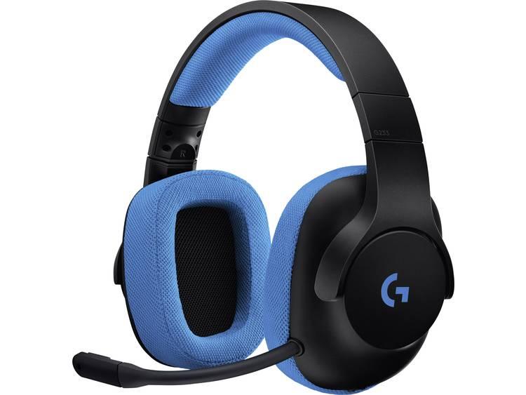 Gaming headset 3.5 mm jackplug Kabelgebonden Logitech Gaming G233 Over Ear Zwart, Blauw