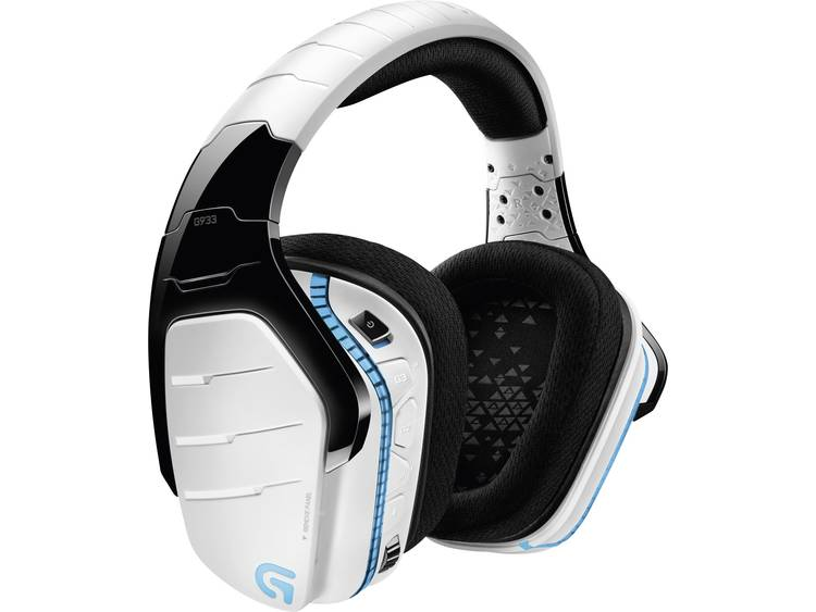 Logitech Gaming G933 Artemis Spectrum™ Gaming headset USB, 3.5 mm jackplug Draadloos Over Ear Wit