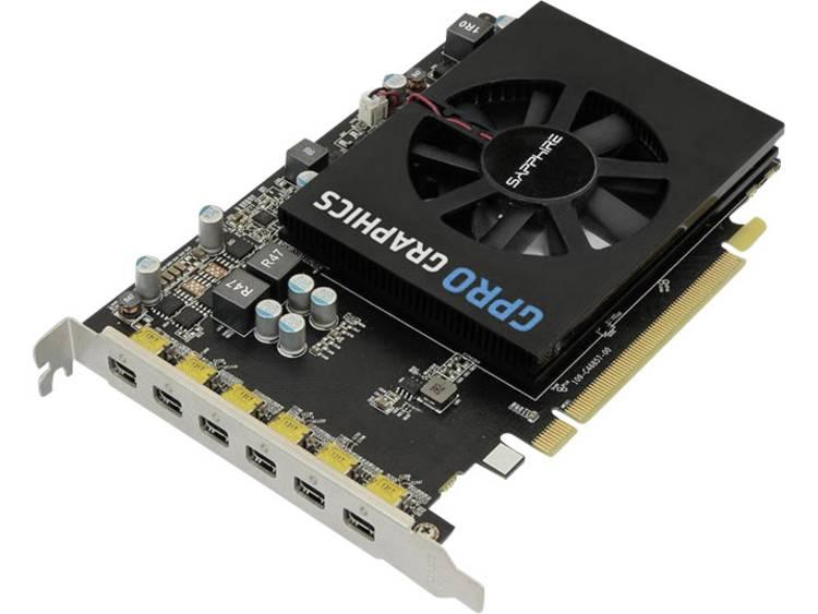 Videokaart Sapphire AMD GPRO 6200 4 GB GDDR5-RAM PCIe x16 Mini DisplayPort