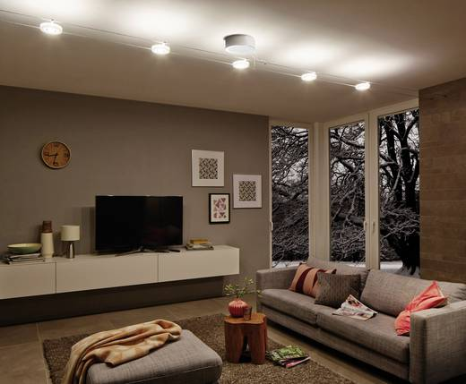 plafond basissysteem led vast ingebouwd led paulmann 50115 chroom mat. Black Bedroom Furniture Sets. Home Design Ideas