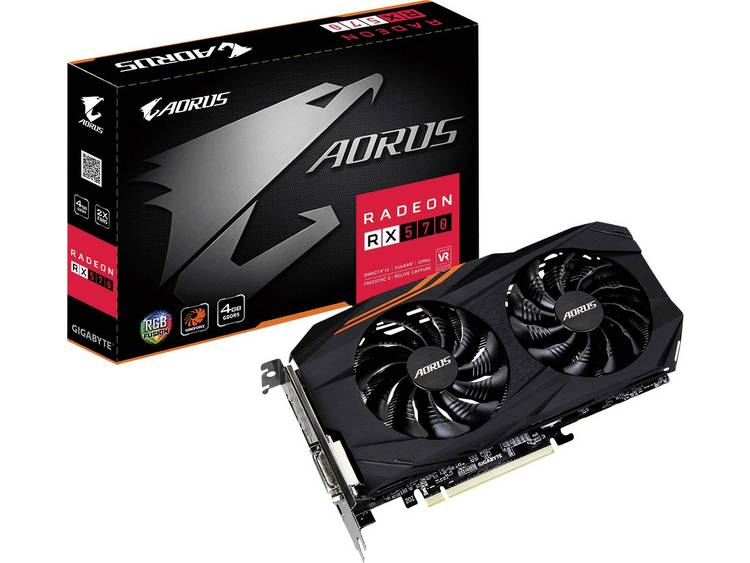 Videokaart Gigabyte AMD Radeon RX 570 Aorus 4 GB GDDR5-RAM PCIe x16 HDMI, DVI, DisplayPort