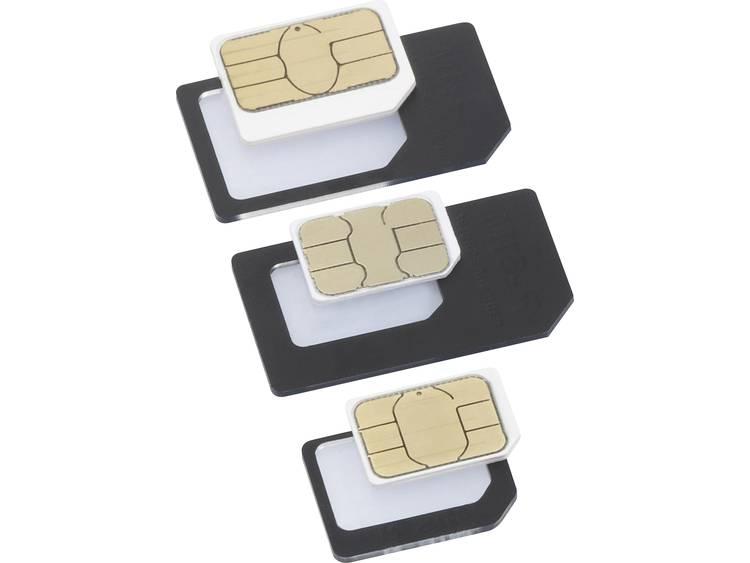 Basetech BT-SIMA-AIO SIM-adapter Incl. SIM-naald Aangepast van: Nano SIM, Micro SIM Aangepast naar: