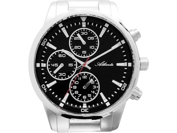 Atlanta Uhren 4405 Wandklok Chronograaf 430 mm x 370 mm x 55 mm Zilver